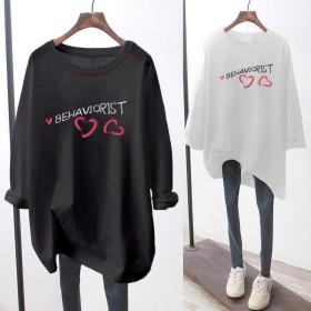 2020新款女学生韩版宽松时尚打底衫纯棉长袖T恤上