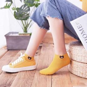 【3双装】小熊袜韩版中筒短袜运动袜透气学生袜百搭日
