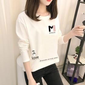 2020春秋新款韩版爆款女式长袖T恤女打底衫圆领