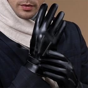 皮手套加绒加厚男女通用