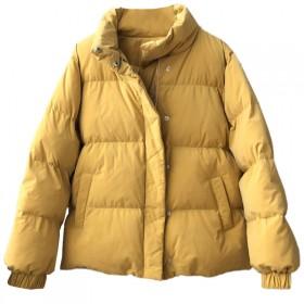 保暖面包棉服女韩版加厚宽松立领棉衣纯色拉链外套