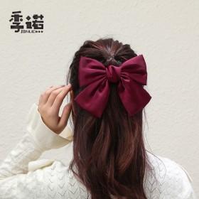 红色大蝴蝶结发夹网红超仙头饰周扬青同款韩国ins发