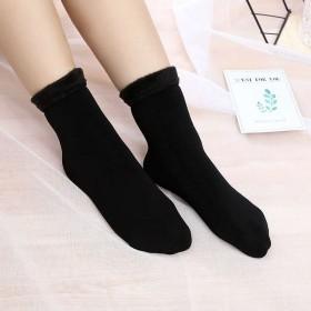 LLB雪地袜冬天加绒加厚款袜子女秋冬季中筒保暖长袜