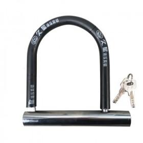 摩托车U型锁电动车单车自行车防盗锁抗液压剪U型锁