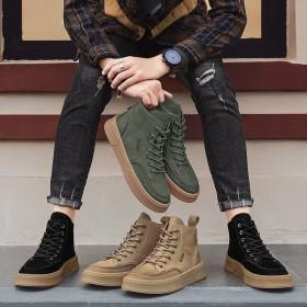 马丁靴男鞋高帮鞋子男韩版潮流英伦风休闲工装靴马丁鞋