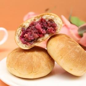 新品面包皮玫瑰鲜花饼7枚装更香更软