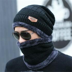 帽子男冬季保暖两件套加绒毛线帽拍下满减
