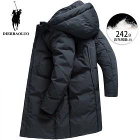 男士中长款白鸭绒外套 时尚青年保暖外套加厚防寒服