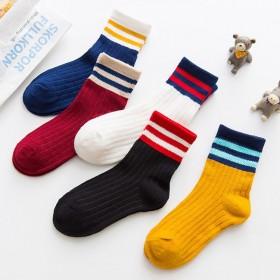 十双装!2020新款儿童袜女春秋中筒袜男童运动袜