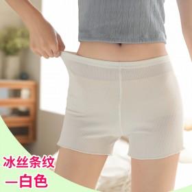 新款安全裤防走光女秋冰丝薄款高腰大码胖mm不卷边穿