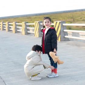 儿童羽绒服中长款加厚保暖外套中小童韩版男女童冬装