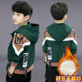 童装男童冬装外套秋冬中大童儿童加绒夹棉夹克男孩
