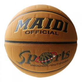 麦蒂牛皮篮球MD-878印花真皮发泡内胆室外波