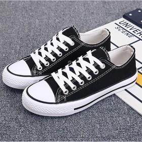 新款帆布鞋男女同款低帮鞋时尚平底学生板鞋情