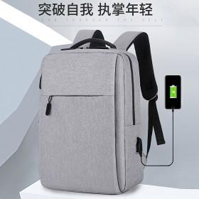 新款15寸充电背包男女14寸笔记本电脑双肩包