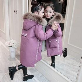 女童冬装童装棉袄棉服中大童儿童中长款加厚棉衣外套