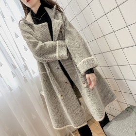 冬季外套女大衣外套女韩版学生长款冬呢外套水貂绒外套