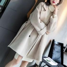毛外套女中长款春季女装新款秋冬季宽松韩版矮个子风衣