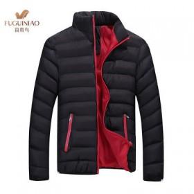【富贵鸟】冬季男士棉衣时尚袖标棉袄短款立领外套加厚