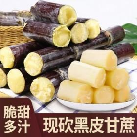 5斤现砍黑皮甘蔗当季新鲜水果脆甜杆果蔗特产
