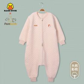 2020小黄鸭新款秋冬宝宝睡袋儿童保暖防踢被彩棉