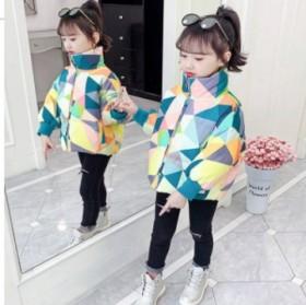 冬季新款女童棉服中大童棉袄短款面包服洋气儿童装