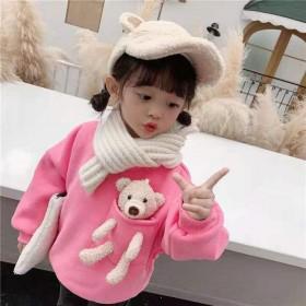 亲子款小熊卫衣新款韩版慵懒风洋气上衣宽松宝宝打底衫