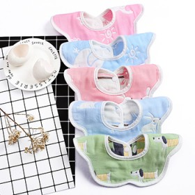 5条 纯棉口水巾婴儿宝宝纱布围嘴(下单有满折优惠)