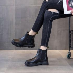 平底短靴女2020秋冬女鞋新款网红切尔西靴子女