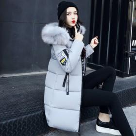 中长款棉衣韩版气质加厚收腰显瘦过膝修身女装外套