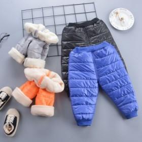 冬季三层外穿棉裤宝宝冬装超厚夹棉裤