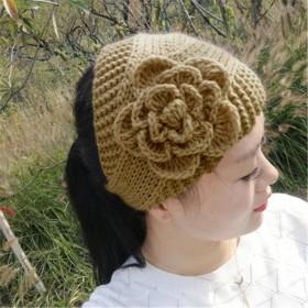 2个花朵发带保暖发箍头箍针织发饰压发洗脸头套女
