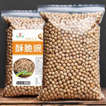 农家炒豌豆500g 餐前零食小吃原味酥脆即食无油糖