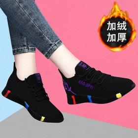 老北京布鞋加绒女健步鞋软底青年妈妈运动鞋棉鞋休闲鞋
