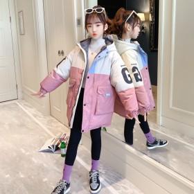女童棉服2020年冬季韩版洋气中大童加厚时髦中长款