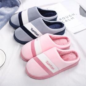 新品棉拖鞋女包跟情侣厚底冬季月子居家用保暖室内防滑