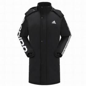 阿迪达斯冬季男士防风加厚棉服外套