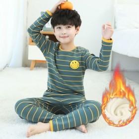 0-12岁男女童装儿童保暖内衣套装秋衣秋裤加绒加厚