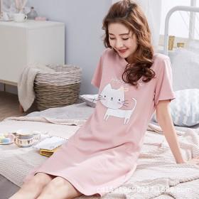 夏季新款短袖纯棉质可爱睡衣夏天甜美少女士家居服