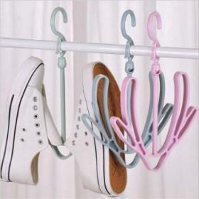 双钩阳台晒鞋架多功能挂鞋子的晾鞋架挂钩晾晒架