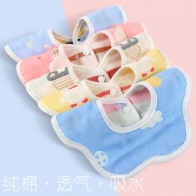 口水巾婴儿纯棉防水吐奶围兜冬季加厚围脖新生儿宝宝男