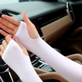 运动针织冰丝袖套女男手套户外跑男开车骑行手臂套冰袖