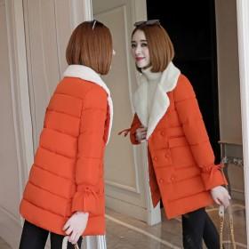 冬季新款棉衣女加厚棉服修身显瘦韩版中长款棉袄外套