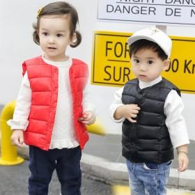 2020秋冬新款儿童羽绒棉马甲男女中小童贴身轻薄背