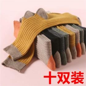 10双棉袜子女韩版中筒长筒袜堆堆网红长筒夏秋薄款
