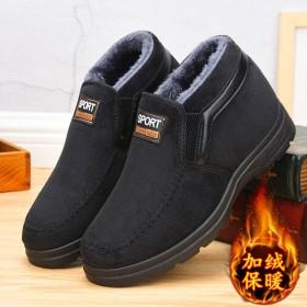 棉鞋男士冬季加绒老北京布鞋加厚防滑中年爸爸鞋高帮靴