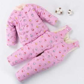 纯手工棉衣儿童婴儿棉花棉袄棉裤宝宝加厚棉服男女孩纯
