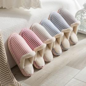 优新品棉拖鞋女冬季家用室内居家居加绒厚底防滑月子情
