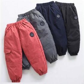 儿童羽绒裤男童外穿2020新款白鸭绒冬季女童加厚裤