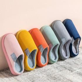 2020棉拖鞋女家居秋冬季居家室内保暖情侣毛绒家用